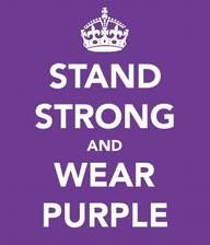 WEAR PURPLE....in support of domestic violence awareness month. # purple night lights