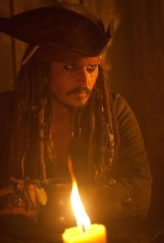 Johnny Depp as Captain Jack Sparrow. Pirates of the Carribean.