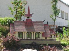 Kirche Albrechtshaus als Miniaturbauwerk.