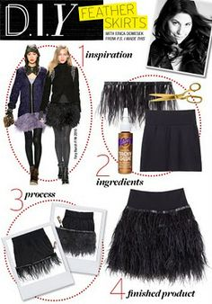 Well That's Just Me ...: WWW - D.I.Y Feathered Skirt . .