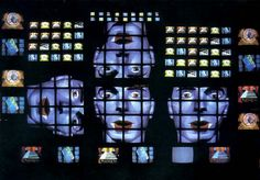 Nam June Paik|Fin de Siecle II - 1989. Center piece for the historic first media show 'Image World: Art and Media Culture', at Whitney Museum of American Art (NYC). The installation was 20'x45' - with 201 television sets with 4 laserdiscs.