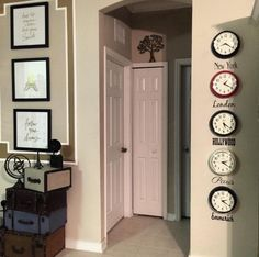 Time zone clock wall                                                       …