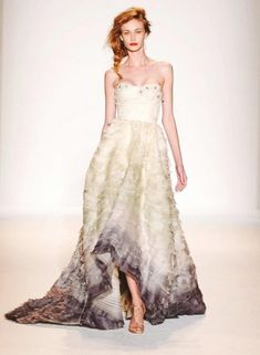 Okay the model and the dress overall is distracting, but the ombre effect is pretty rad on the bottom. Could be neat in one of your colors.