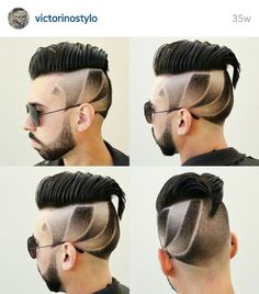 Hairstyle for men.