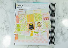 Pink Lemonade horizontal planner sticker kit - Erin Condren horizontal sticker kit - planner stickers - planner kit - lemonade girl - summer by PrettyEasyPlanning 9.50 EUR This planner sticker kit is not themed to a specific week of the year. It contains of a variety of stickers so you can embrace your creativity. It is sized for the Erin Condren Life Planner in the horizontal layout. functional stickers To-Do headers half boxes habit tracker / sidebar full boxes washi full box checklists…