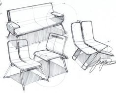 Spencer Nugent - chair sketches
