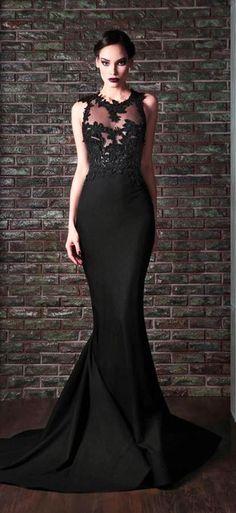 Rami Kadi 2014, black wedding dress