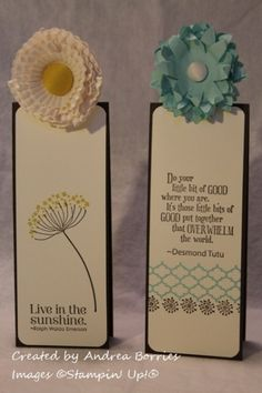Bookmarks from Pop-Up Posies Kit