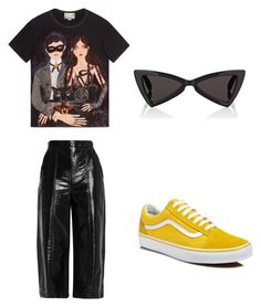 """""""Untitled #9"""" by daria-maria-17 on Polyvore featuring Gucci, MSGM, Vans and Yves Saint Laurent"""