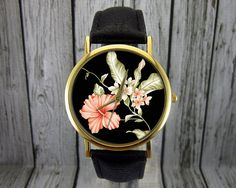 Hibicus Flower Watch | Floral Watch | Women's Watch | Men's Watch | Gift for Her | Gift Idea | Custom Watch | Fashion Accessory