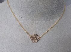 This is a beautiful little rose pendant hung on a 14k gold filled 18 chain. If you would like a different length chain please specify when purchasing. Comes in a jewelry box with a polishing cloth, a gift card and ships first class. For tracking or priority please purchase from my front page. ♥ ♥ ♥ ♥ ♥ ♥ ♥ ♥ ♥ ♥ ♥ Enter my boutique here: http://www.SheilasAttic.etsy.com ♥ ♥ ♥ ♥ ♥ ♥ ♥ ♥ ♥ ♥ ♥