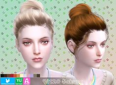 NewSea: YU120 Sakura hair • Sims 4 Downloads