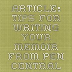 Memoir Writing Course