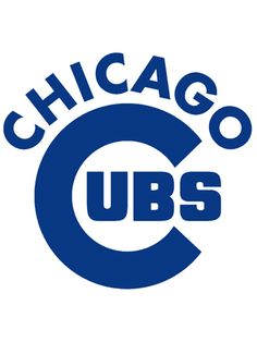 Chicago Cubs Wordmark Logo on Chris Creamer's Sports Logos Page - SportsLogos. A virtual museum of sports logos, uniforms and historical items. Espn Baseball, Orioles Baseball, Chicago Cubs Baseball, Chicago Cubs Logo, Baseball Bats, Baseball Stuff, Chicago Bears, Chicago Cubs Wallpaper, Bulls Wallpaper