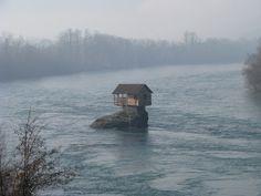 Milija Mandić / rest house for swimmers / drina river /  bajina basta / serbia / 1968