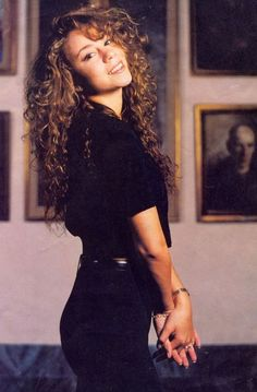 Early Mariah Carey - back when curls were cool. (They still are in my book.)