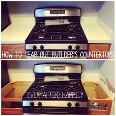 how to remove builder's countertops