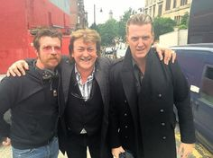 Donald Macleod with Eagles of Death Metal's Jesse Hughes and Josh Homme