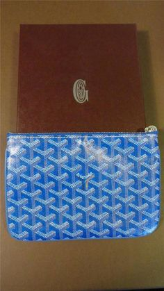 NWT GOYARD PARIS SENAT PM Monogram Canvas Zip Pouch Bag Wallet Toiletries Bag #Goyard #Pouch #CosmeticBags
