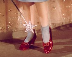 Ruby slippers - The Ruby Slippers in the Wizard of Oz where originally silver in the book. It was decided to make the shoes red for the movie in order to take advantage of newly developed colour processes in film.