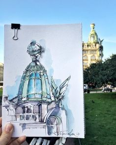 Watercolor sketch Гаврилова Кристина @xtina_gavrilova_art в Instagram: #aquarell #art #painting #watercolor #sketch #paint #drawing #sketching #sketchbook #travelbook #archisketcher #sketchaday #sketchwalker #sketchcollector #artbook #artjournalrа #traveldiary #topcreator #usk #urbansketchers #urbansketch #скетчбук #скетч #скетчинг #pleinair #aquarelle #watercolorsketch #usk #architecture #topcreator