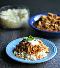 This slow cooker salsa chicken is easy to make and tastes delicious. Use it for tacos, on salads or rice bowls or even with your eggs in the morning. Low carb and Paleo too!