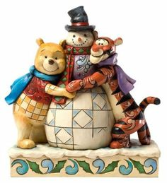 Amazon.com - Jim Shore Disney Traditions Pooh and Tigger with Snowman Christmas Figurine