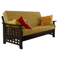 Manila Sierra Futon Frame With Open Weave In Java
