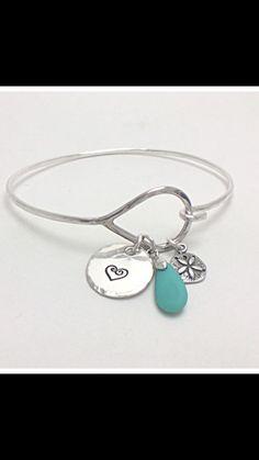 Bangle charm bracelet.