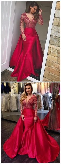 2018 Prom Dress prom dresses long,prom dresses modest,prom dresses boho,prom dresses red,prom dresses cheap,prom dresses v neck,beautiful prom dresses,prom dresses 2018,prom dresses with sleeve,prom dresses mermaid #amyprom #longpromdress #fashion #love #party #formal
