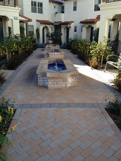 Check out this Acker-Stone, Holland I No Chamfer project, colors Light Buff & Pewter. #pavers #hollandI #ackerstone
