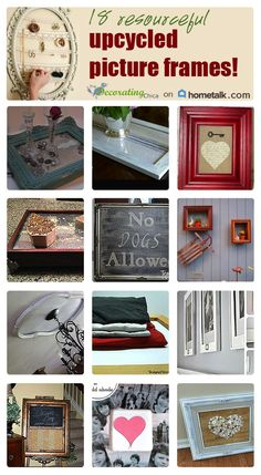 Check out these really cool repurposed picture frames!