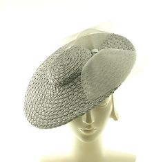 f27907d3fa9 Straw Fancy Hat - Saucer Hat - Boater Hat for Women - Vintage Inspired  Fashion - Gray Straw hat