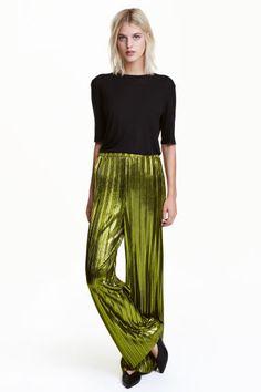 Pantalon à l'éclat métallisé   H&M