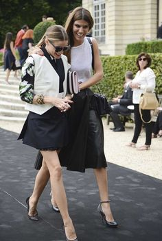 Street style from Paris haute couture autumn '14/'15