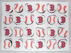 Boston Red Sox Cupcakes