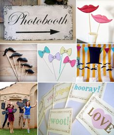 Love all these ideas for a photo booth too!!