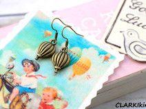 Ohrringe Bronze Heißluftballon von CLARKIkind