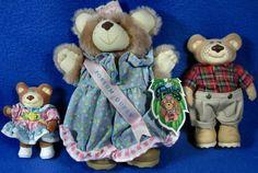 "Vintage Lot Of 3 Furskin Plush Bears 7"" Selma Jean Possum Queen & Two Friends #Furskin #AllOccasion"