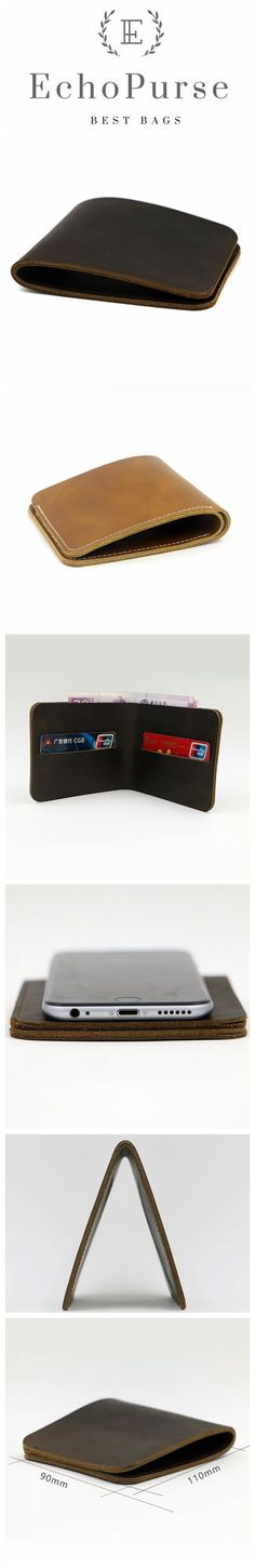 Vintage Style Leather Wallet, Best Leather Gift For Man MY001
