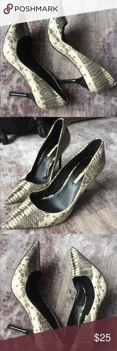 Snakeskin Pumps Selling these Zara snakeskin pumps, they've treated me very  well over the years but I have stopped wearing them. They're so comfortable  and ...