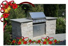 outdoor built in grill will make Dad's day!