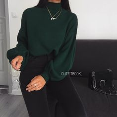 "9f071fc031b www.outfitbook.fr on Instagram  ""Love the color ✅ Nouvelle couleur pour  notre pull avec manches bouffantes 😍 Ref 05-B01"