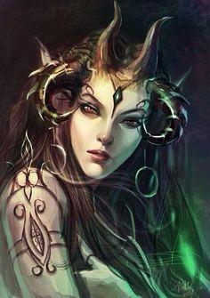 Female evil demon demon girl art hot female demons succubus art angels demons - Hot demon women ...