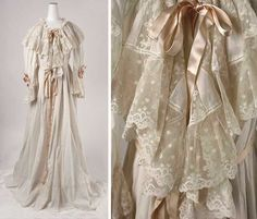 Dressing gown, late 1890s. American or European. Cotton and silk. Metropolitan Museum of Art