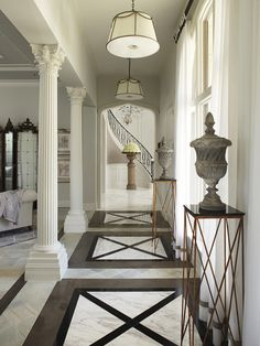 Main Hallway and Staircase in background -  Interior Design Photographer   Brantley Photography   Miami