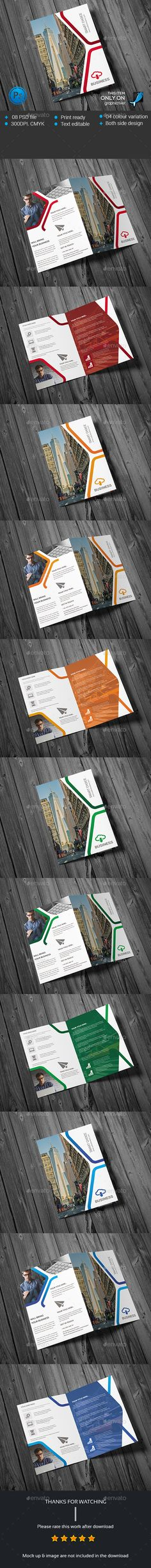 Modern Business Bifold Template PSD. Download here: http://graphicriver.net/item/modern-business-bifold/14578180?ref=ksioks
