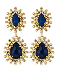 Blue Onyx Earrings by Kendra Scott at Last Call by Neiman Marcus.