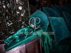 Luxury velvet cushions