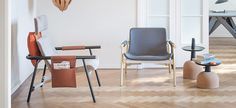 """The Eddy armchair is built using the same logic as bicycle construction, around a tubular metal frame, while the seat is designed to be comfortable and ergonomic. The way in which the various parts of the frame are connected - using """"quick release"""" fittings - is an obvious reference to the cycling world. The use of separate elements to make up the frame of the armchair makes it possible to play with the graphics and thus create multiple combinations of different colours and finishes."""